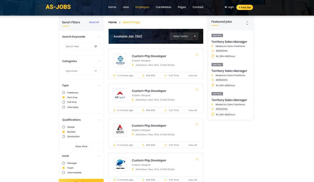 Career Builder Job Portal Design